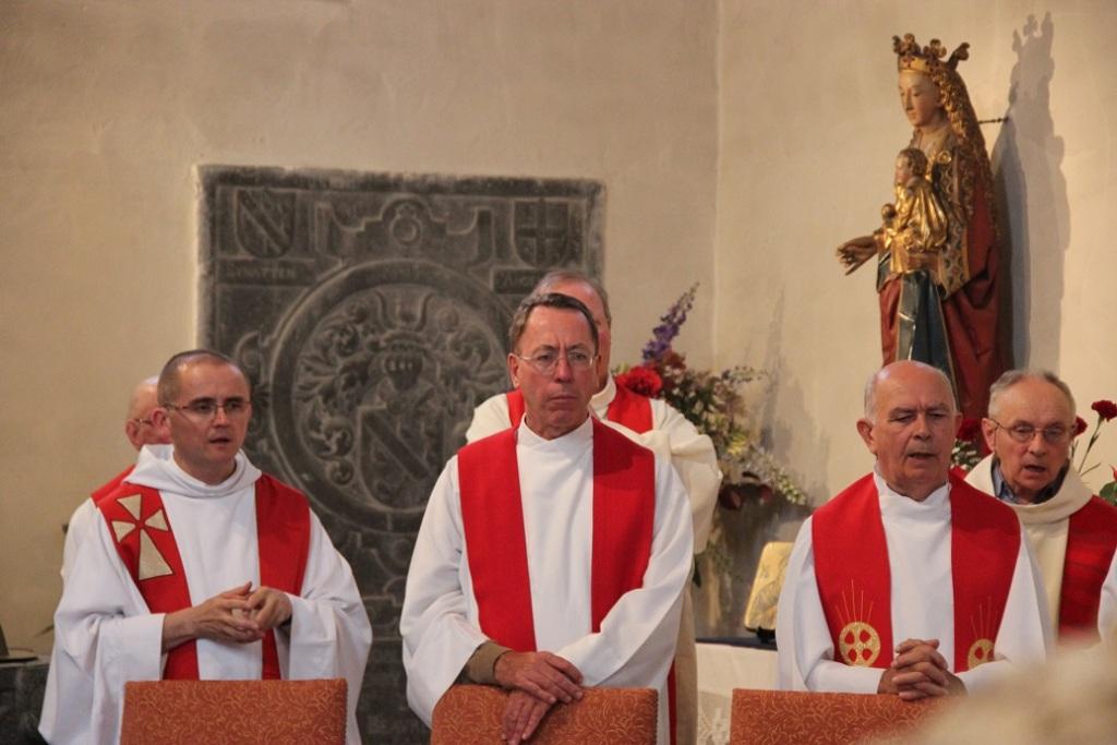 Les doyens Leroy et Jacques, l'abbé Rouschop