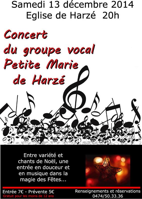 Affiche concert Petite Marie 2014