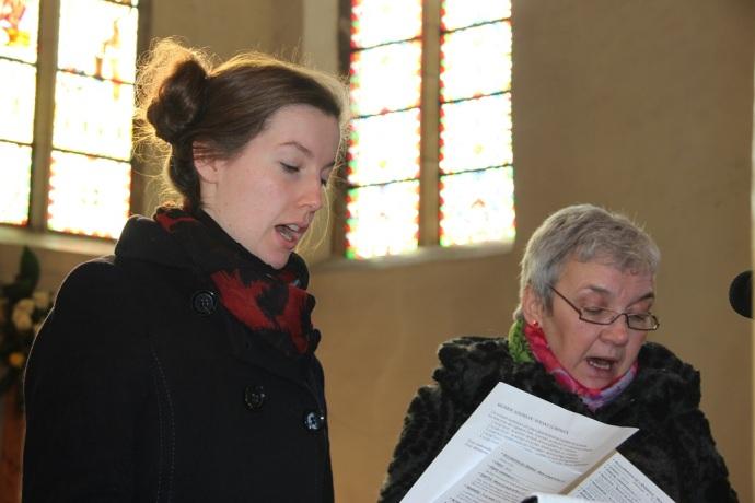Anne et Marie-France chantent le psaume 117