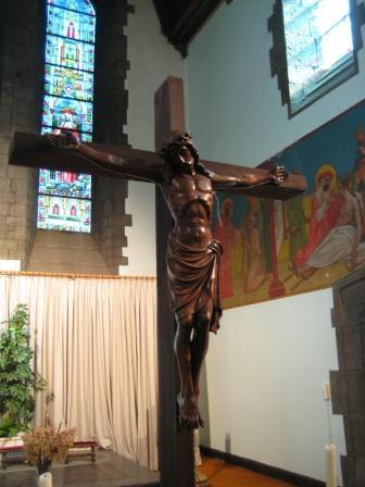 Le superbe Christ récemment restauré