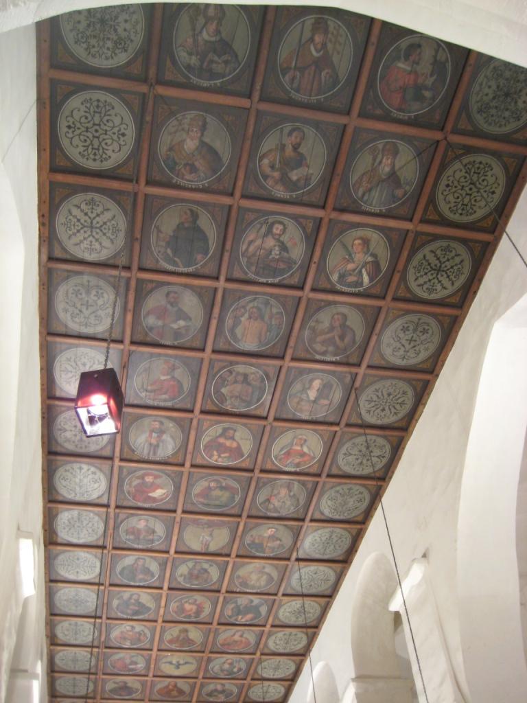 Plafond à caissons de l'église de Theux