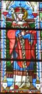 Saint Augustin, reconnaissable au coeur qu'il porte dans la main