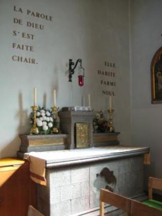 L'autel du Saint-Sacrement avec le taberacle