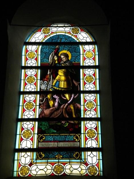 Le vitrail de Saint-Georges