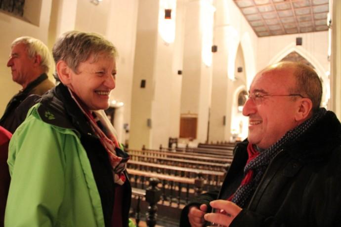 Fina Keifens et l'abbé Alphonse Borras