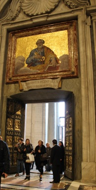 La Porte Sainte, côté basilique