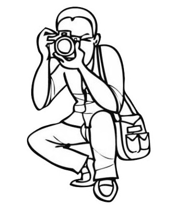 Dessin_coloriage_photographe