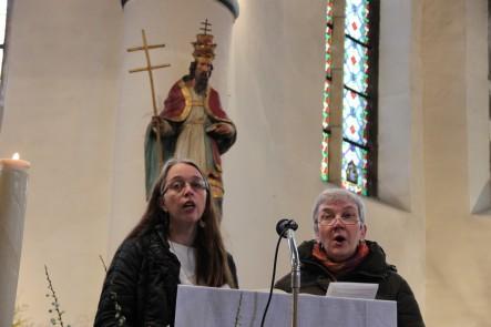 Isabelle et Marie-France chantent le psaume 117