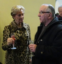 Micheline Troupin et l'abbé Marcel Villers