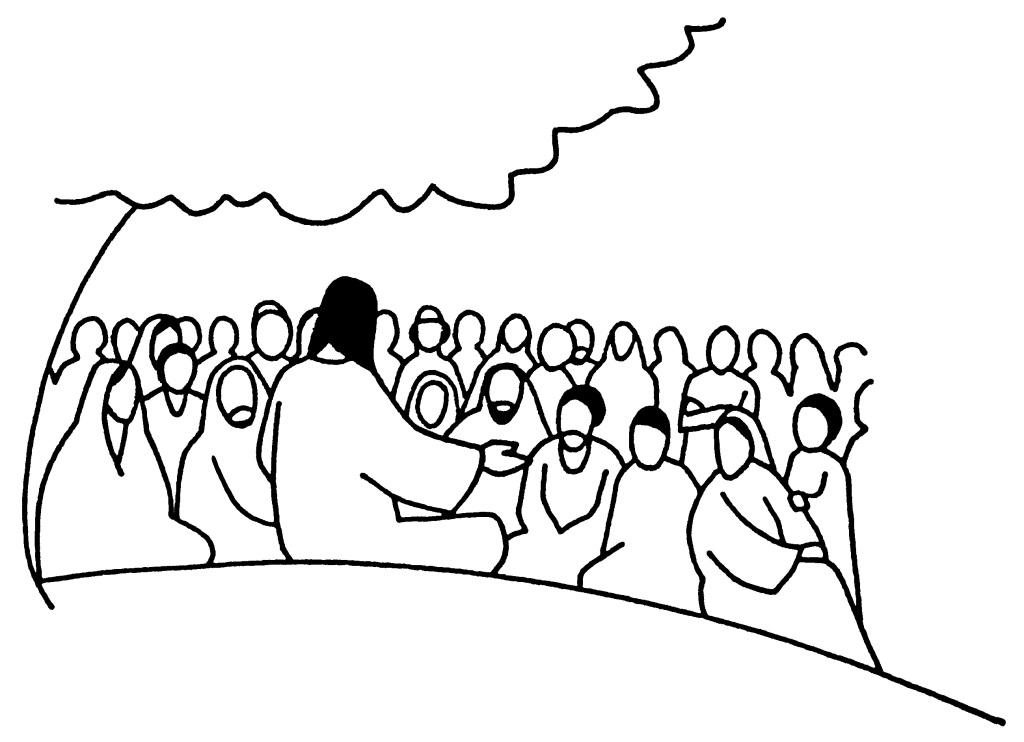 jesus parle aux foules