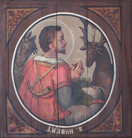 Saint Hubert, patron de la ville de Liège - Plafond de l'église de Theux
