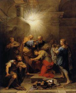 https://en.wikipedia.org/wiki/File:Jean_II_Restout_-_Ananias_Restoring_the_Sight_of_St_Paul_-_WGA19317.jpg